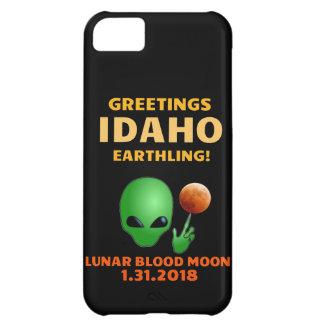 Carcasa Para iPhone 5C ¡Earthling de Idaho de los saludos! Eclipse lunar