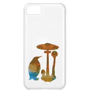 Carcasa Para iPhone 5C El pingüino y la seta