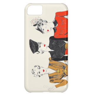 Carcasa Para iPhone 5C Impresión coloreada del arte del vintage de 3