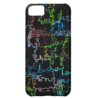 Carcasa Para iPhone 5C Línea abstracta multicolora modelo de Digitaces