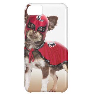 Carcasa Para iPhone 5C Perro del libre de Lucha, chihuahua divertida,