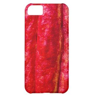 Carcasa Para iPhone 5C rojo de la vaina del cacao