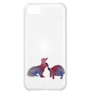 Carcasa Para iPhone 5C Un conejo y una tortuga