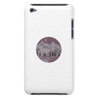 Carcasa Para iPod Círculo mono L de la luna de la montaña del