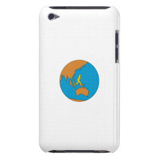 Carcasa Para iPod Corredor de maratón que corre alrededor del mundo
