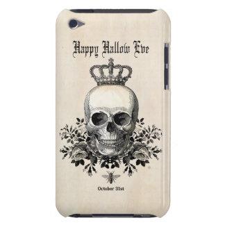 Carcasa Para iPod Cráneo moderno de Halloween del vintage con la
