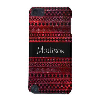 Carcasa Para iPod Touch 5 Caja roja azteca femenina de encargo del tacto de