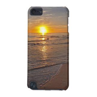 Carcasa Para iPod Touch 5 Caso: Puesta del sol por la playa
