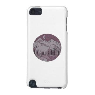 Carcasa Para iPod Touch 5 Círculo mono L de la luna de la montaña del