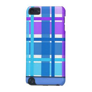 Carcasa Para iPod Touch 5 Diseño azul y púrpura de la tela escocesa