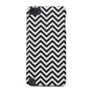Carcasa Para iPod Touch 5 El zigzag blanco y negro raya el modelo de Chevron