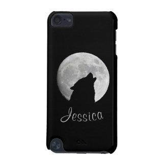 Carcasa Para iPod Touch 5 Lobo que grita en la Luna Llena, su nombre