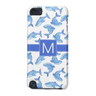 Carcasa Para iPod Touch 5 Modelo de la ballena azul de la acuarela
