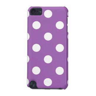 Carcasa Para iPod Touch 5 Modelo de lunar púrpura y blanco