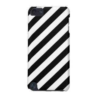 Carcasa Para iPod Touch 5 Modelo diagonal blanco y negro de las rayas