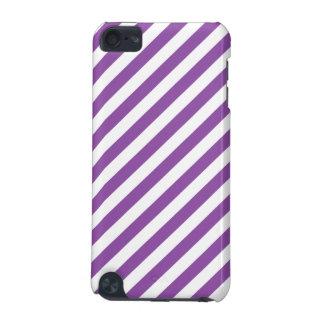 Carcasa Para iPod Touch 5 Modelo diagonal púrpura y blanco de las rayas