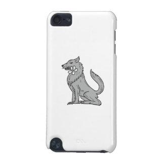 Carcasa Para iPod Touch 5G Dibujo de la flor del Plumeria del lobo de madera
