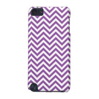Carcasa Para iPod Touch 5G El zigzag púrpura y blanco raya el modelo de