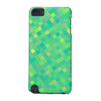 Carcasa Para iPod Touch 5G Modelo de mosaico verde/amarillo de moda elegante