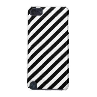 Carcasa Para iPod Touch 5G Modelo diagonal blanco y negro de las rayas