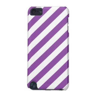 Carcasa Para iPod Touch 5G Modelo diagonal púrpura y blanco de las rayas