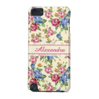 Carcasa Para iPod Touch 5G Rosa romántico en colores pastel del flor, rojo,