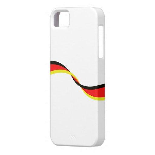 Carcasa para móvil con bandera alemana iPhone 5 funda