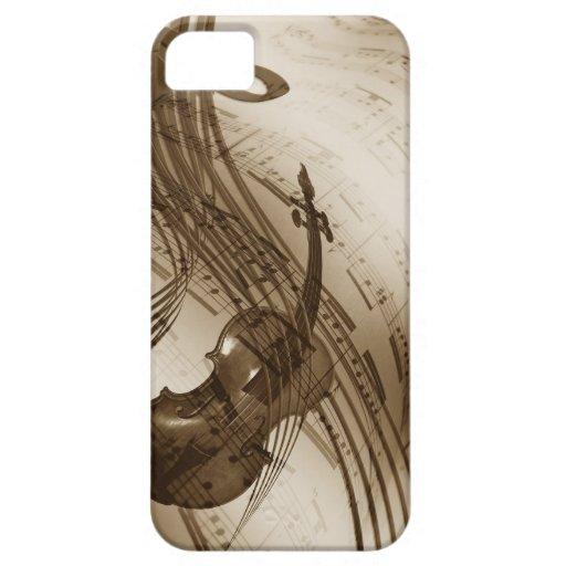 Carcasa Violín iphone iPhone 5 Fundas