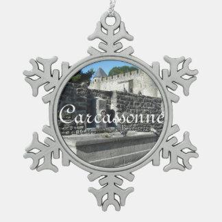 Carcasona, Francia Adorno De Peltre En Forma De Copo De Nieve