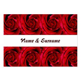 Carda la plantilla - rosas rojos adaptables tarjetas personales
