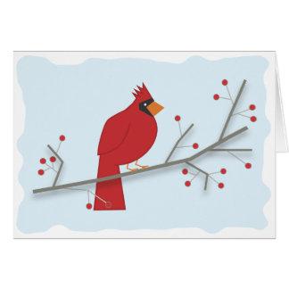Cardenal del día de fiesta tarjeta de felicitación