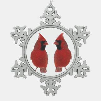 Cardenales Adorno De Peltre En Forma De Copo De Nieve