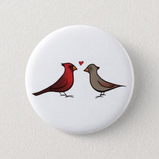 Cardenales en botón del amor