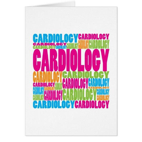 Cardiología colorida tarjeta de felicitación