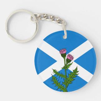 Cardo escocés llavero