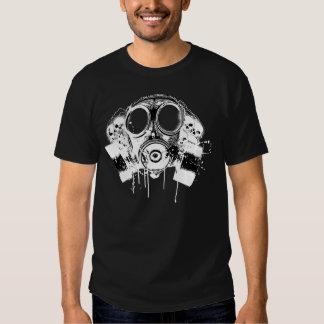 Careta antigás libre del lechón de Hiphop Camisetas