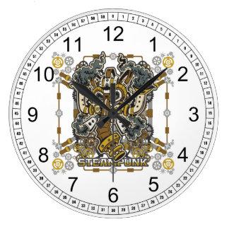 Careta antigás mecánica de Steampunk Reloj Redondo Grande