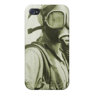 Caretas antigás militares retras de las mujeres 40 iPhone 4 cárcasas