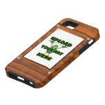 carga por teletratamiento al marco de madera de la iPhone 5 funda
