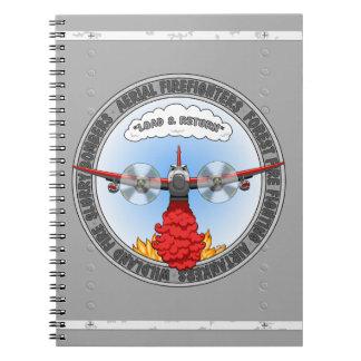 Carga y cuaderno de vuelta de Airtanker