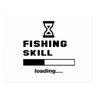 Cargamento de la habilidad de la pesca ...... postal
