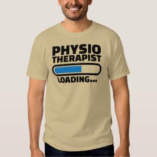 Cargamento del fisioterapeuta camisetas