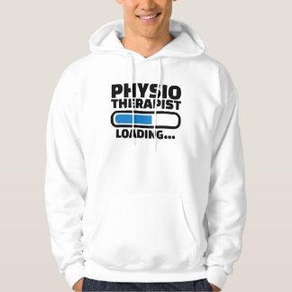 Cargamento del fisioterapeuta pulóver con capucha
