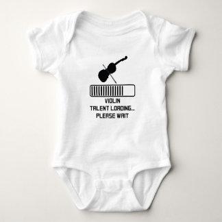 Cargamento del talento del violín body para bebé