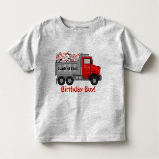 """""""Cargas cumpleaños del camión de la diversión"""" Camiseta De Bebé"""