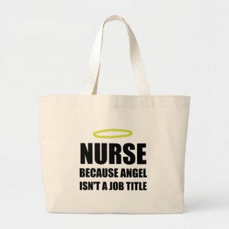 Cargo del ángel de la enfermera bolso de tela gigante