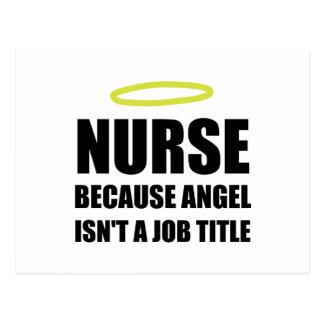 Cargo del ángel de la enfermera postal