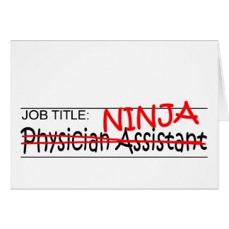 Cargo Ninja - médico Asst Tarjetón