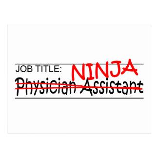 Cargo Ninja - médico Asst Tarjeta Postal