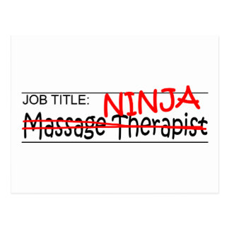 Cargo Ninja - terapeuta del masaje Postal